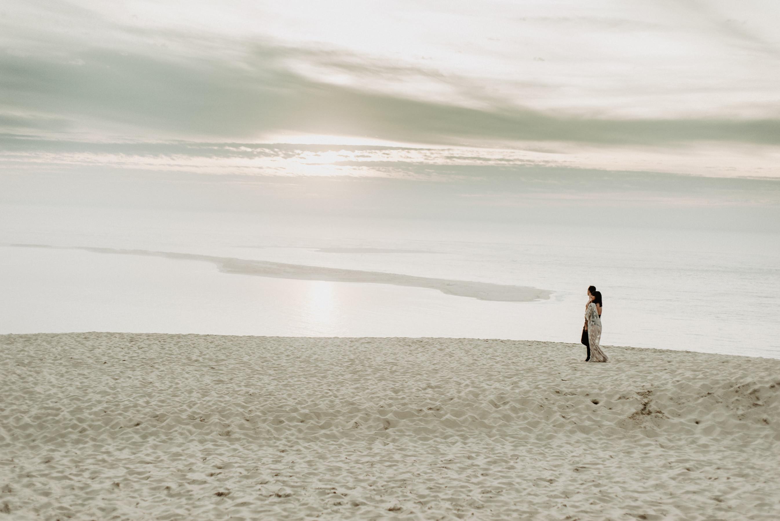 Photographe couple mariage dune du pilat bassin d'arcachon