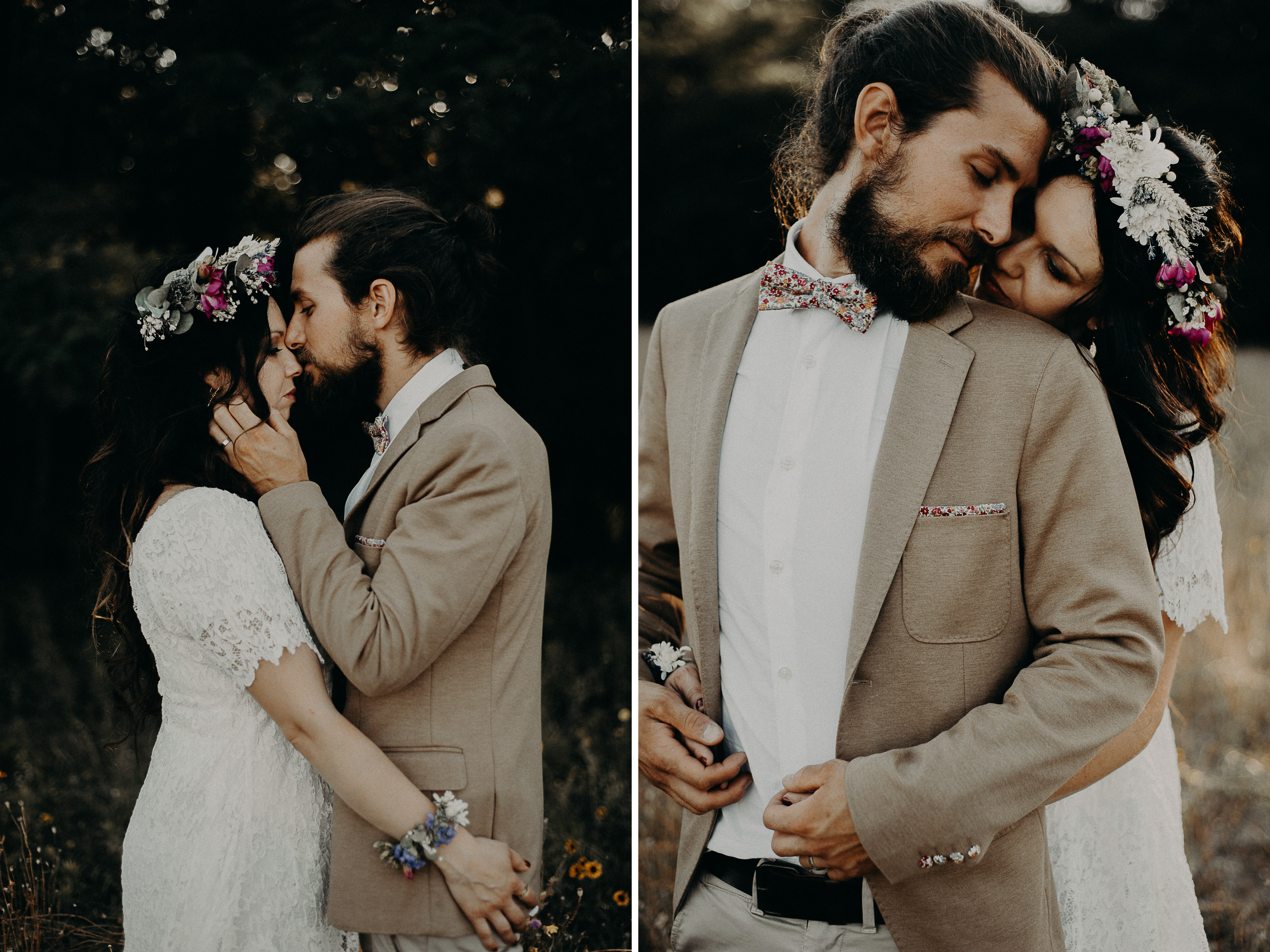 Photographe mariage intime hipster rock vintage bordeaux