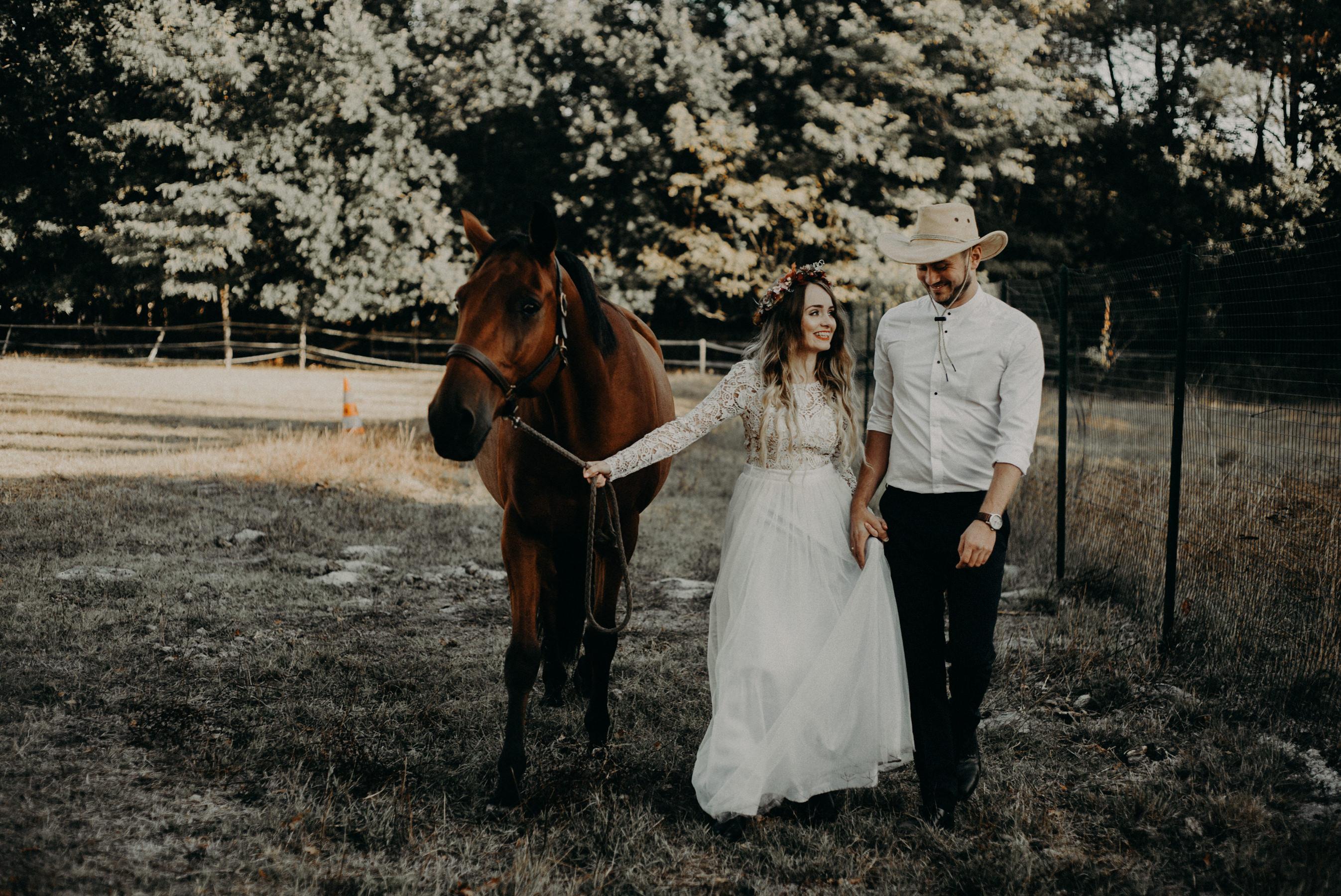 Photographe mariage Bordeaux boheme foret